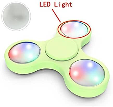 Mchoice 3PCS LED Light For Fidget Hand Spinner Torqbar Finger Toy EDC Focus Gyro